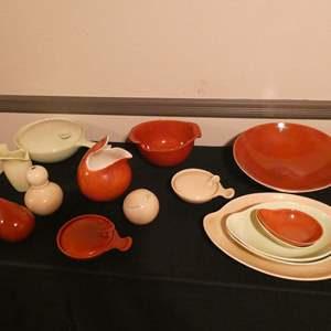 Lot # 61-Pottery treasures. Eva Zeisel Town & Country pottery (Inabstracto collection), pitchers, bowls, trays