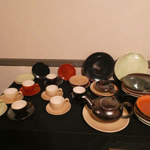 Lot # 64-Lot # 61-Pottery treasures. Eva Zeisel Town & Country pottery (Inabstracto collection) Dishwear