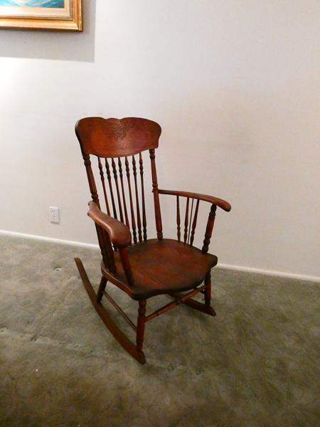 Lot # 207- Antique rocking chair- great condition (main image)