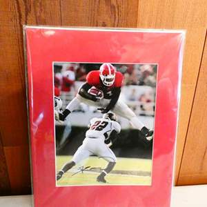 Auction Thumbnail for: Lot # 220- Signed photo by Knowshon Moreno