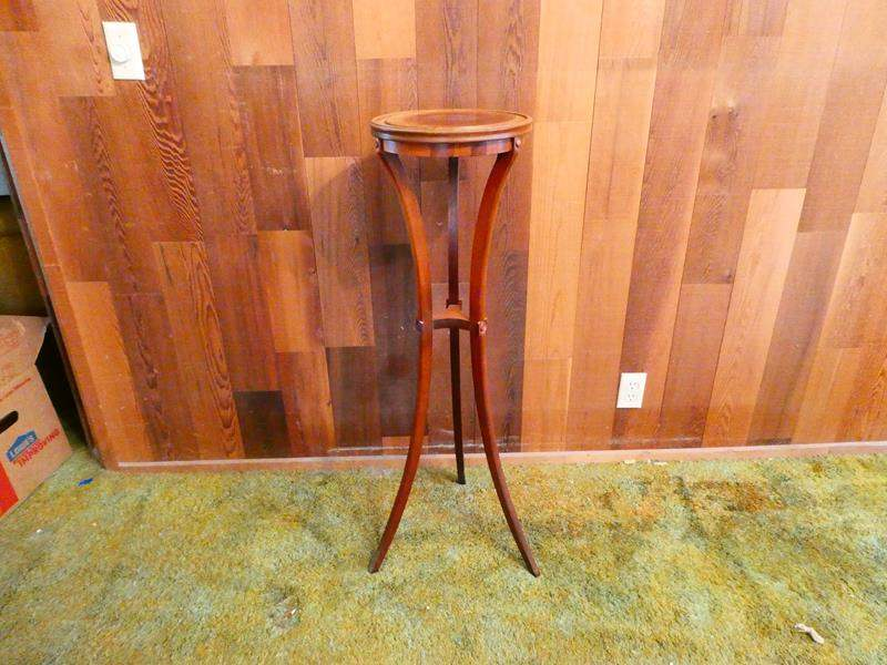 Lot # 221- Tall wooden Plant stand (main image)