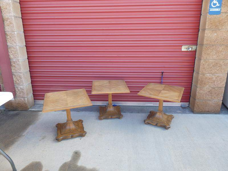 Lot # 18-Three Mid-Century end tables, solid wood, great condition (main image)