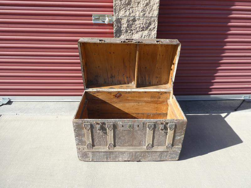 Lot # 20-Antique steamer chest (main image)