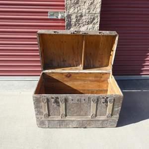 Lot # 20-Antique steamer chest