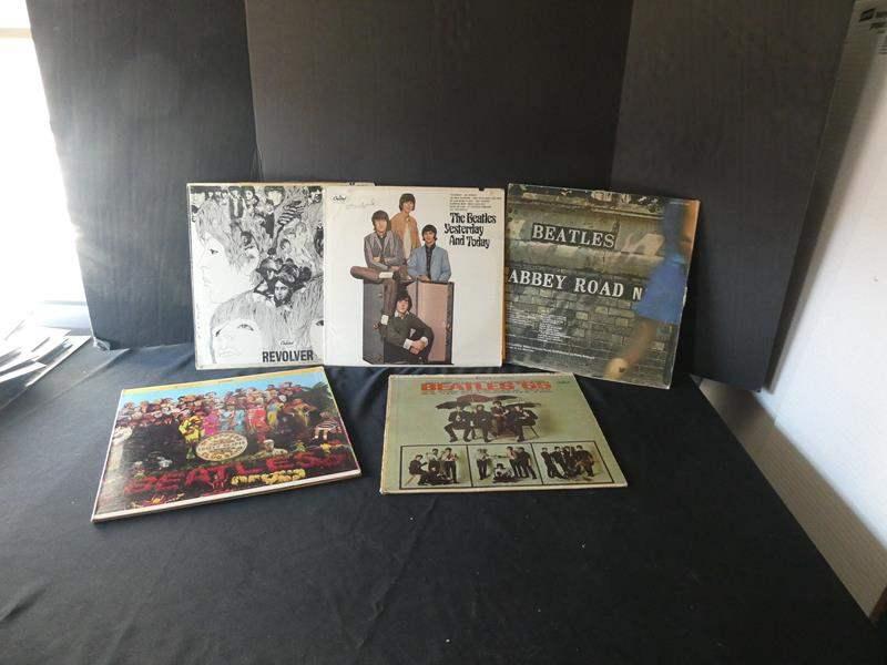 "Lot # 45- Five collectors ""Beatles"" vinyl albums (main image)"