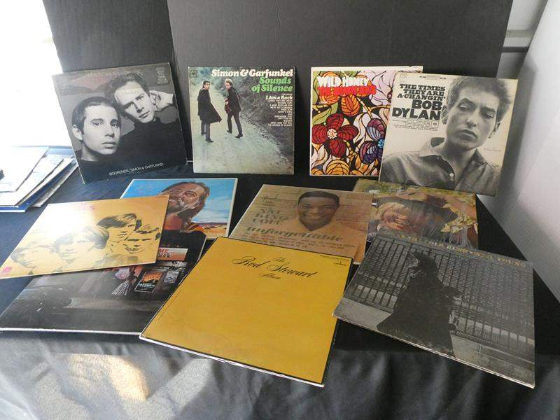 Lot # 47- Elton John and Assorted Classic Rock vinyl albums: Simon & Garfunkel, Bob Dylan, and more! (main image)