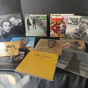 Lot # 47- Elton John and Assorted Classic Rock vinyl albums: Simon & Garfunkel, Bob Dylan, and more!