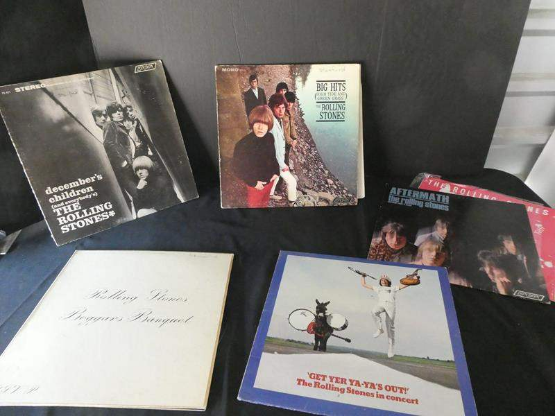 "Lot # 48- Five collectors ""Rolling Stones"" vinyl albums (main image)"