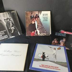"Lot # 48- Five collectors ""Rolling Stones"" vinyl albums"