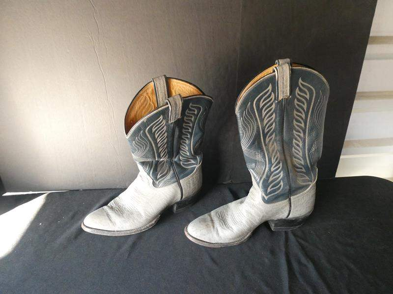 Lot # 57-Leather Cowboy boots- men's size 8/9 (main image)