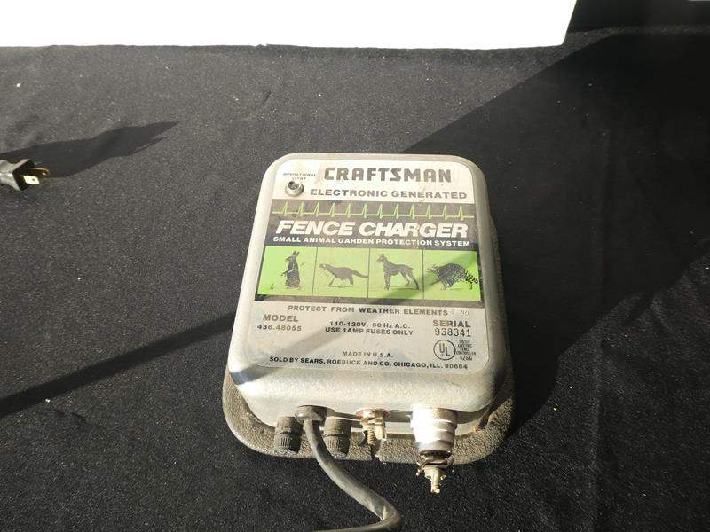 Lot # 62-Craftsman Electronic generated fence charger (main image)