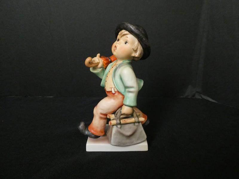 """Lot # 8-Vintage Goebel Hummel, Germany, """"Merry Wanderer"""" (main image)"""