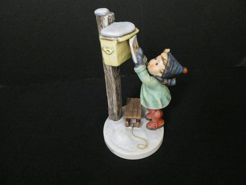 "Lot # 10- Rare, Hummel Figurine Germany: ""Letter to Santa Claus"" (main image)"