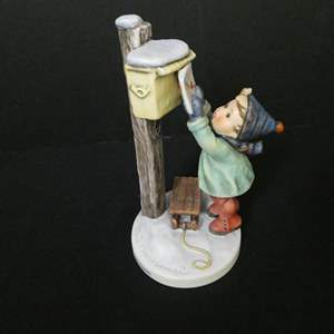 """Auction Thumbnail for: Lot # 10- Rare, Hummel Figurine Germany: """"Letter to Santa Claus"""""""