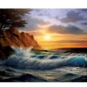 """Auction Thumbnail for: Lot # 5- Original Anthony Casay painting, signed, """"Cypress sunset"""" oil on canvas. Has certified appraisal."""