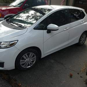 Auction Thumbnail for: Lot # 13- 2015 Honda fit LX- White- Great condition