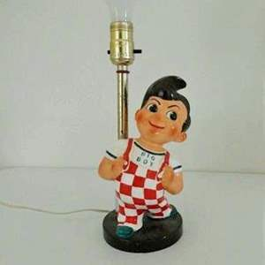 "Auction Thumbnail for: Lot # 110-Rare 1940-1950's Vintage ""Bob's Big Boy"" lamp- tested"