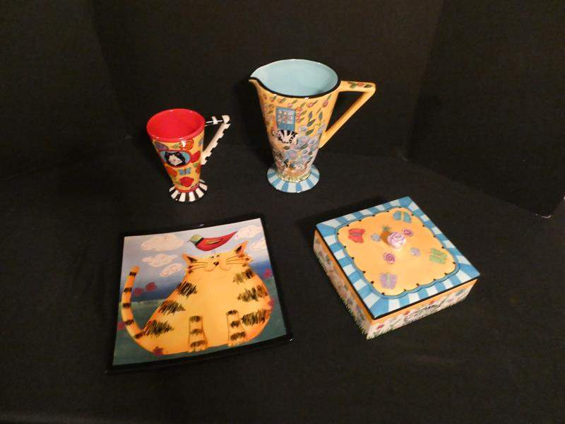 Lot # 157 Catzilla collector pieces and more (main image)