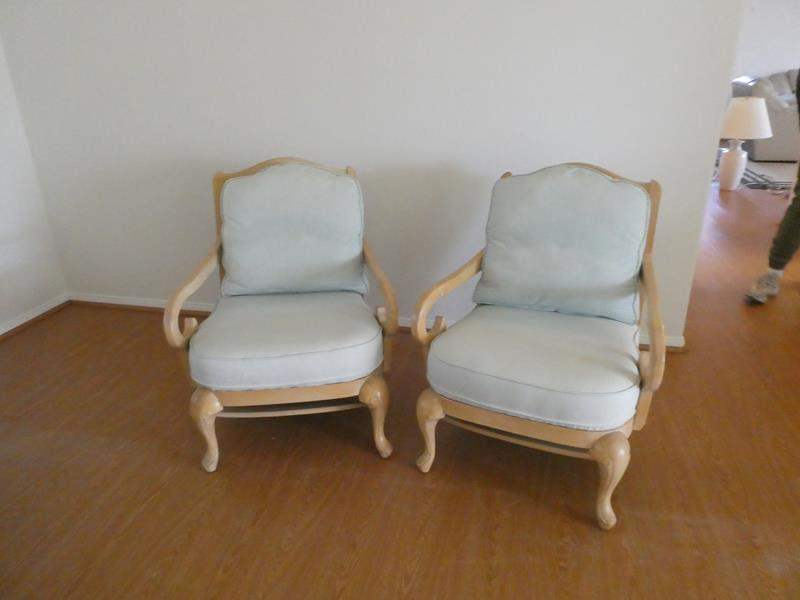 Lot # 100- Set of two wood chairs (main image)
