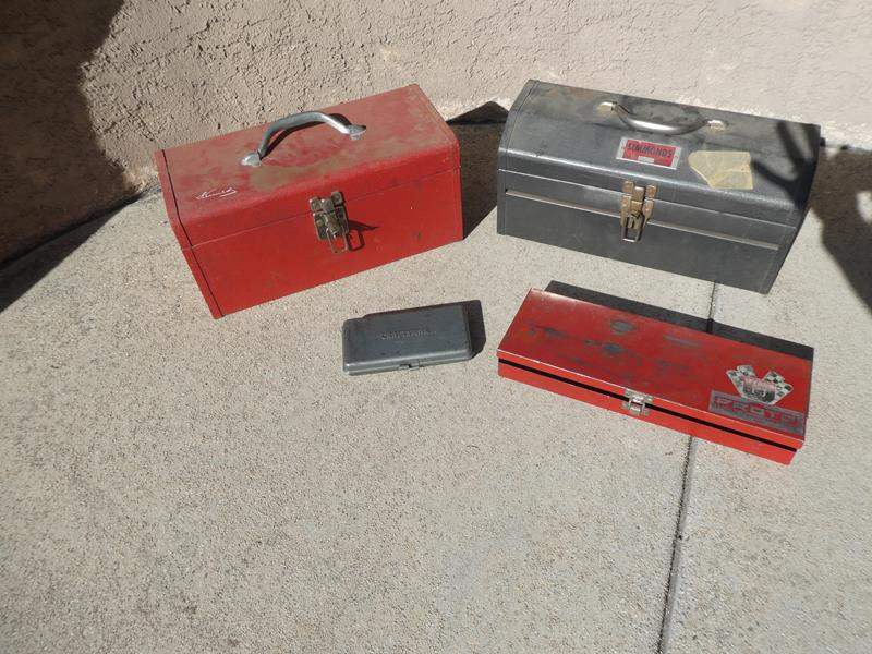Lot # 116- 3 Tool boxes with tools: Simonds, Craftsman and more (main image)