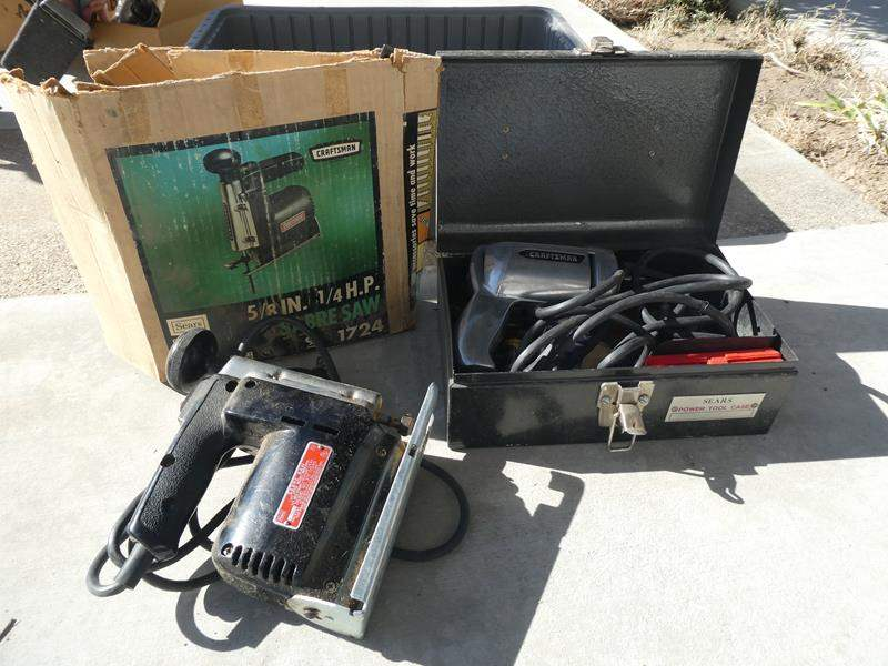 Lot # 126- Craftsman Drill and Craftsman Sabre Saw (main image)