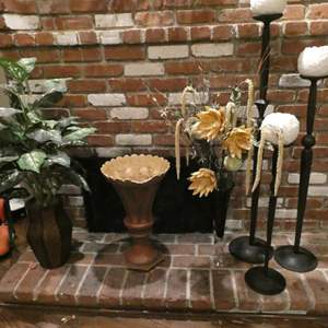 Auction Thumbnail for: Lot # 203-Great Home Decor- Candle Holders and Vases