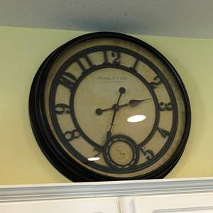 Lot #39 - Large Wall clock by Sterling and Noble