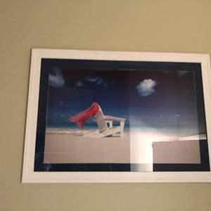Lot # 156- Framed beach artwork for your home!
