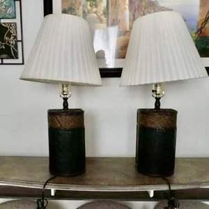 Lot # 163 - Matching rustic lamps