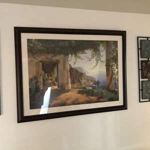 Lot # 165 - Greece framed artwork/ metal wall hangings