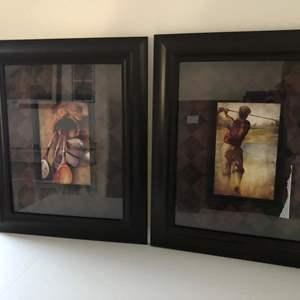 Lot # 170 - Framed golf art