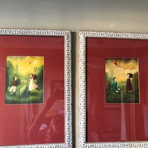 Lot # 175 - Miscellaneous artwork and lamp