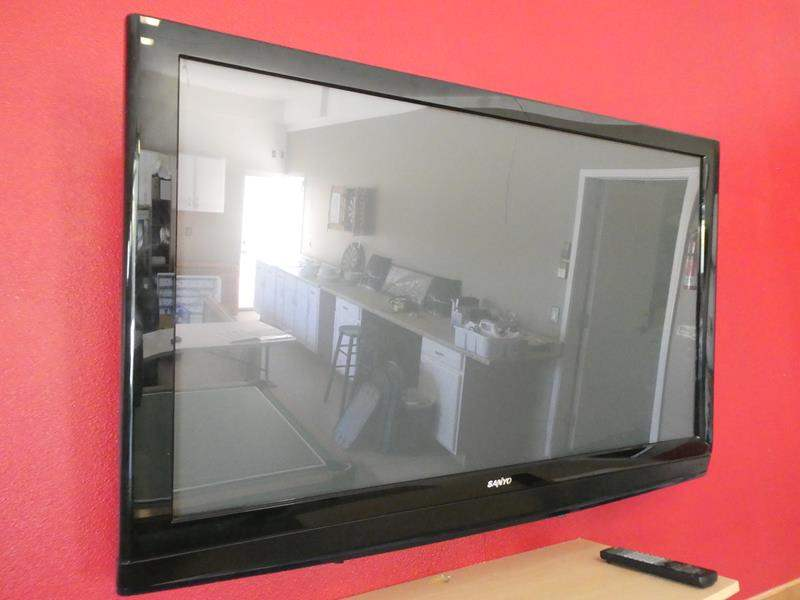Lot # 100 -Sanyo 50'' TV with remote- working and tested (main image)