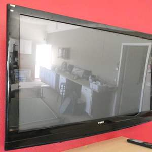 Lot # 100 -Sanyo 50'' TV with remote- working and tested