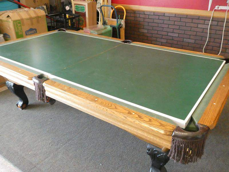 Lot # 101 - Pool Table with Ping Pong top  & Rug (main image)