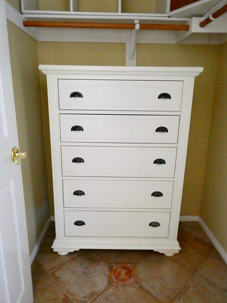 Lot #4- White chest of drawers (main image)