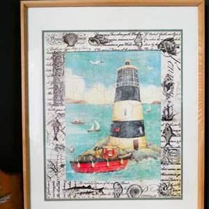 Lot #13- Beachy lighthouse decor