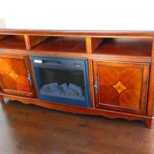 Lot #20 - Buffet table with electric fireplace
