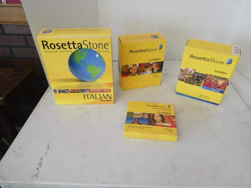 Lot # 123 -Rosetta Stone Language learning (Italian, Greek, Spanish) (main image)
