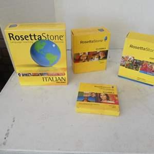 Lot # 123 -Rosetta Stone Language learning (Italian, Greek, Spanish)