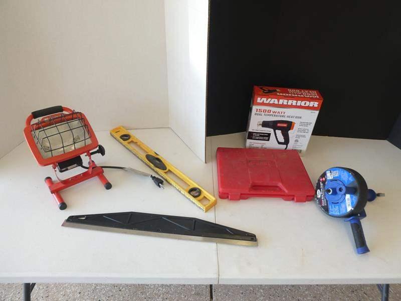 Lot # 124 - Miscellaneous garage tools- Warrior dual temperature heat gun (main image)