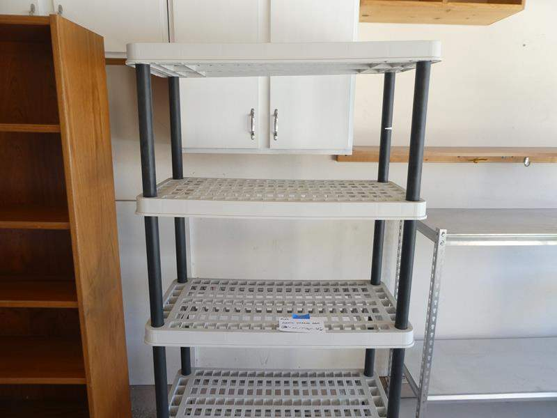 Lot # 126 - Plastic storage rack (main image)