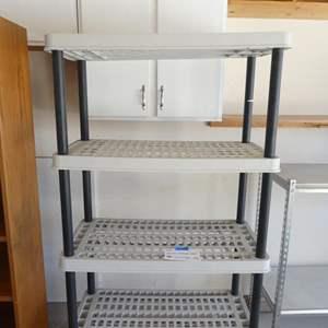 Lot # 126 - Plastic storage rack