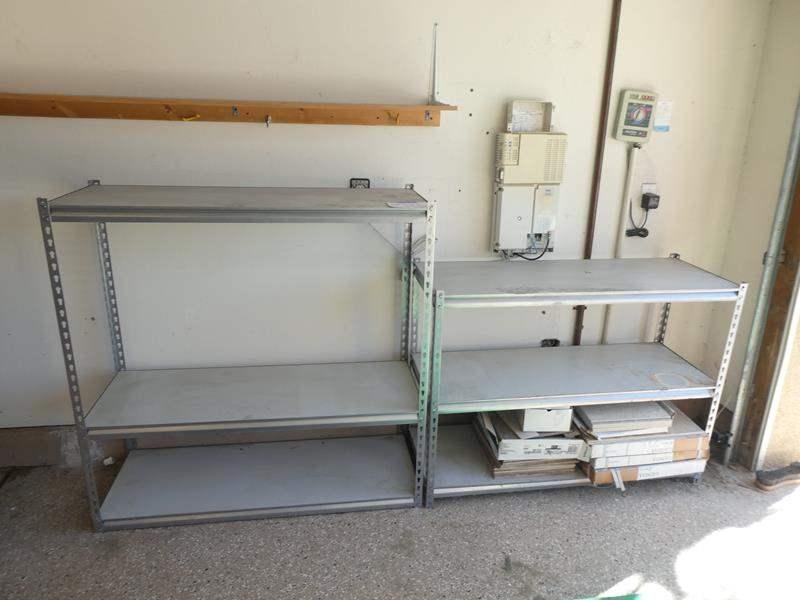 Lot # 128 - Metal storage racks (main image)