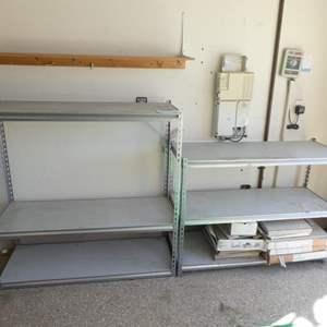 Lot # 128 - Metal storage racks