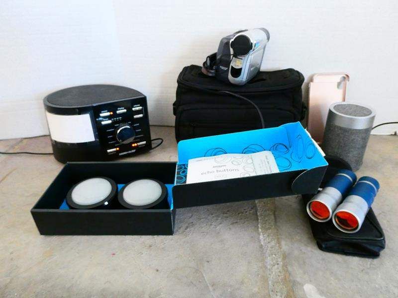 Lot #29 -Assorted electronics, Amazon buttons, some new! (main image)