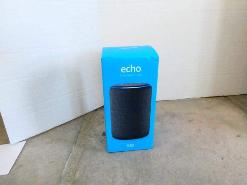 Lot #30- Alexa Echo smart speaker- New in box! (main image)
