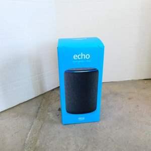 Lot #30- Alexa Echo smart speaker- New in box!