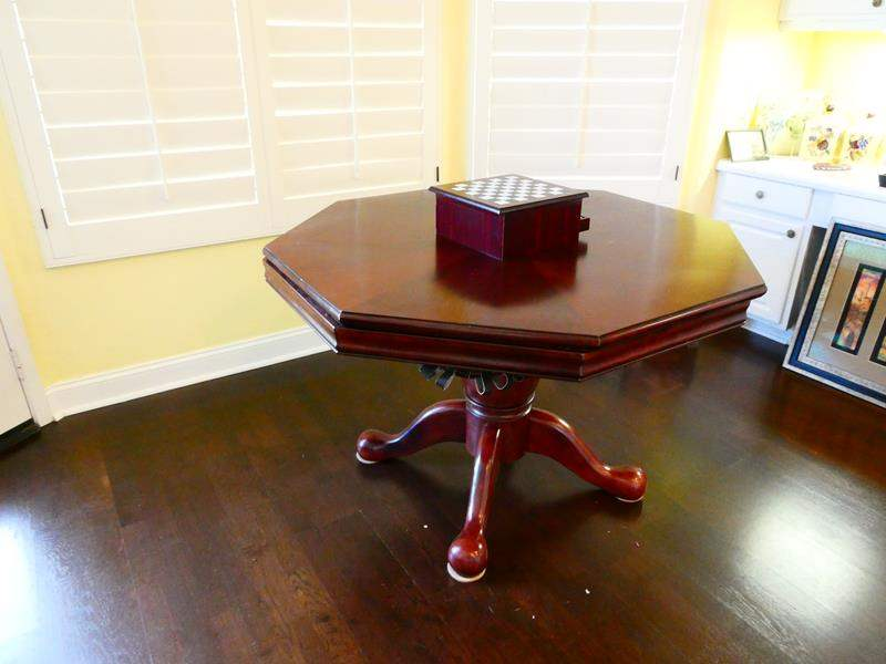 Lot #32- Game table/ dinning table with game center- see all pictures (main image)