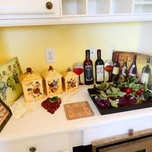 Lot #33- Wine country kitchen decor